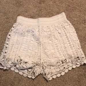 GB lace mesh shorts